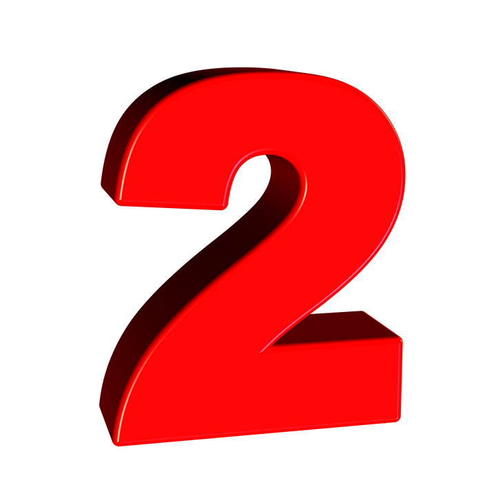 Number 2 PNG images free download.
