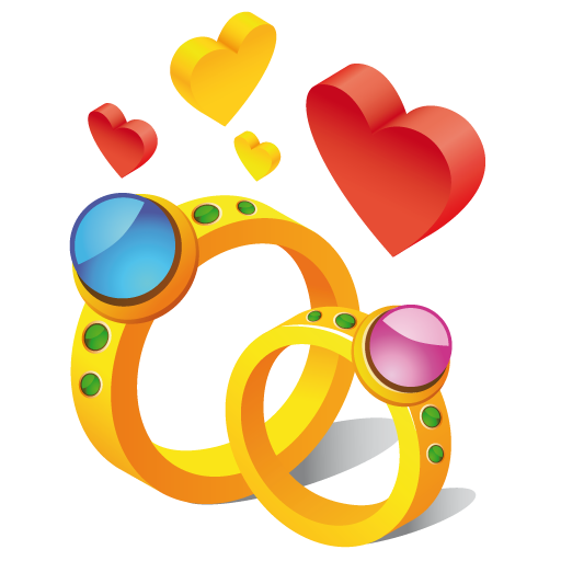 Free two rings clip art.