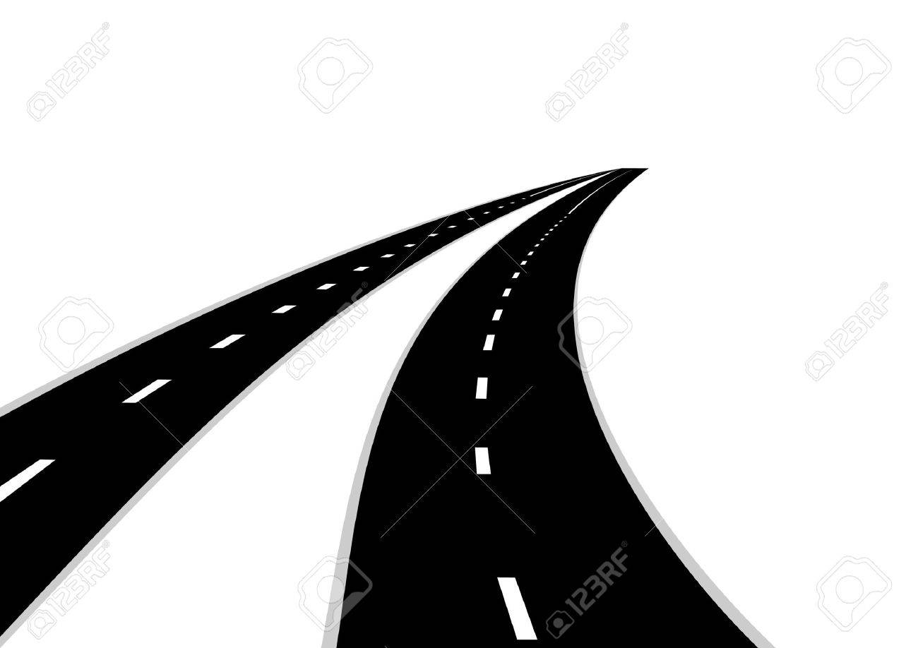 Two Road Clipart.