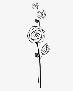 Free Rose Outline Clip Art with No Background.