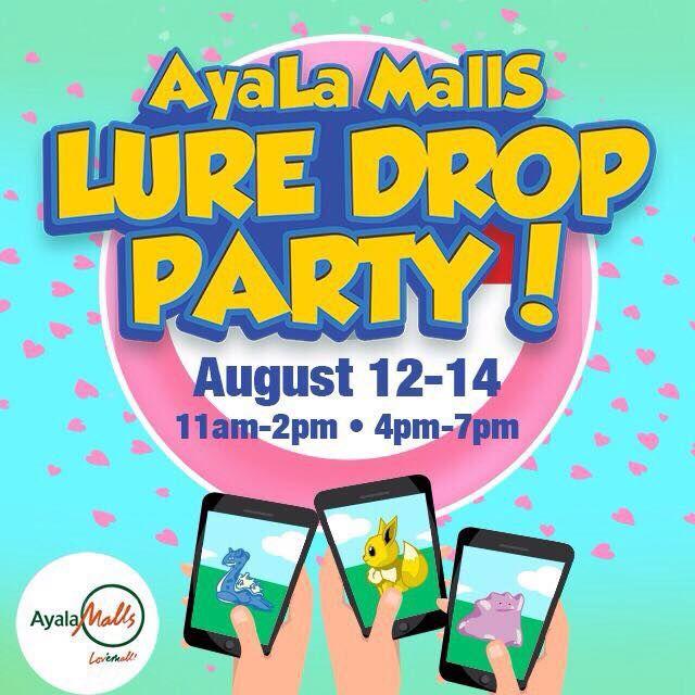 My Ayala Malls Pokemon Lure Drop Party Experience.
