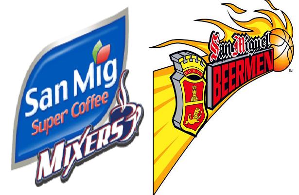 San Mig Coffee versus San Miguel Beer Battle for top two.