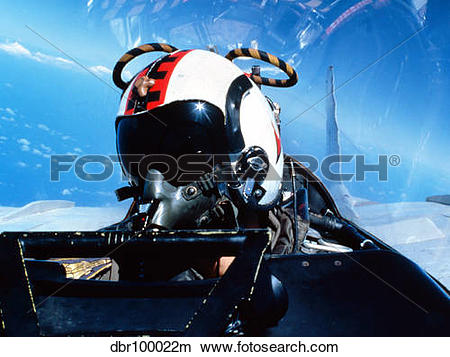 Stock Photo of A pilot sitting in the back of a two.