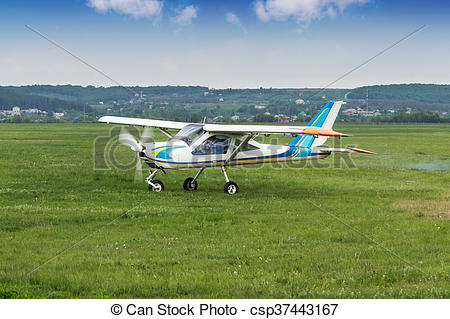 Stock Image of Small business airplane.