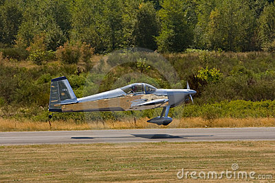 Small Two Seater Airplane Stock Photos.