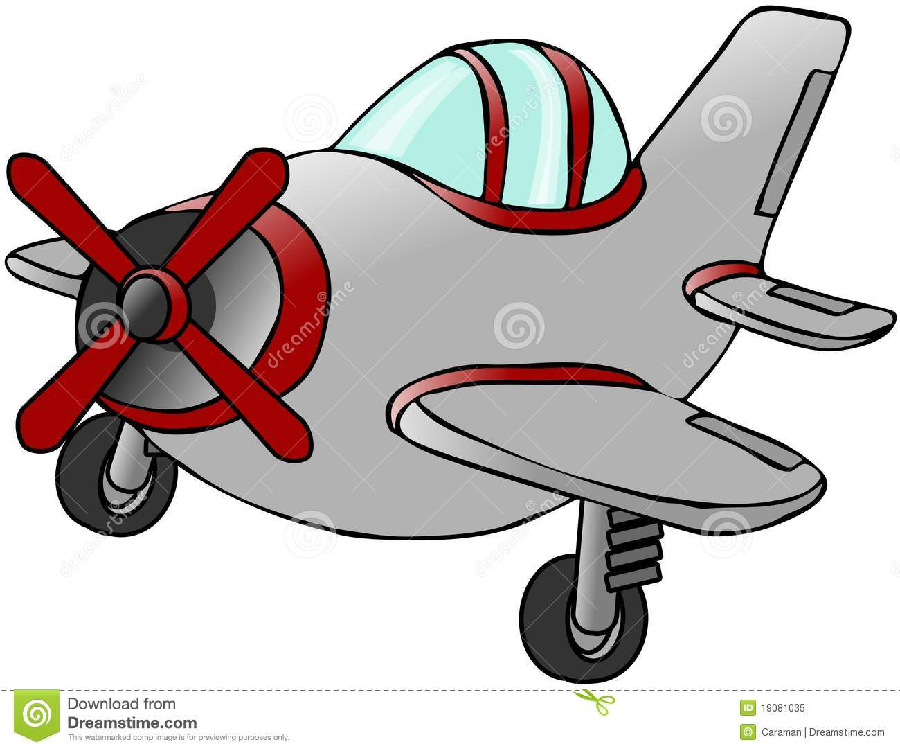 Small Silver Airplane Royalty Free Stock Photo.