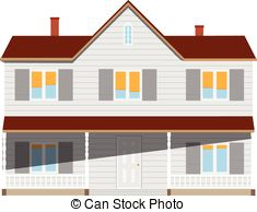 Two story house Clip Art Vector and Illustration. 163 Two story.