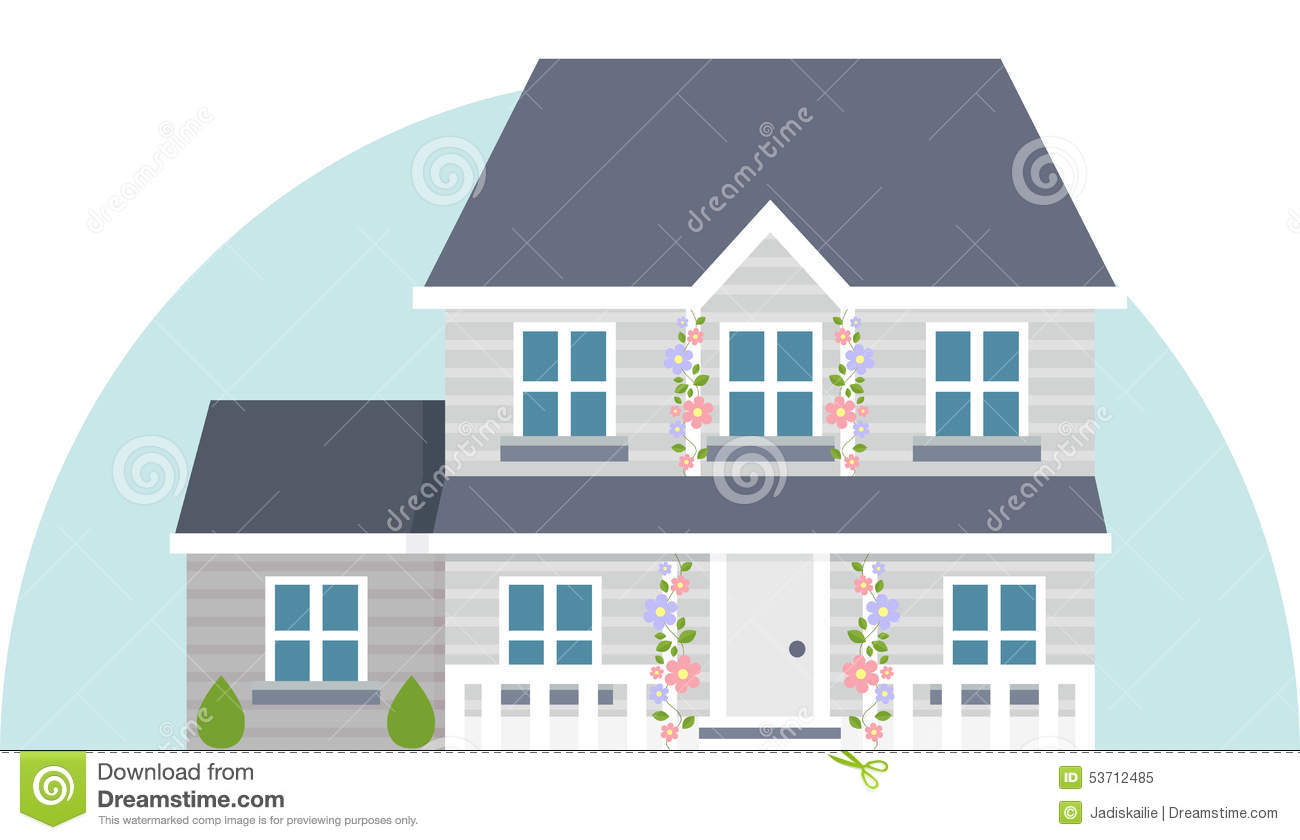 Two Story Stock Illustrations.