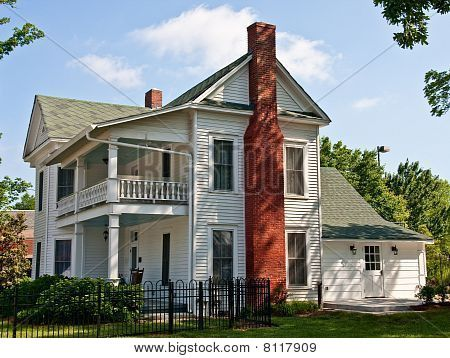 Two Story Colonial Farm House Clipart.