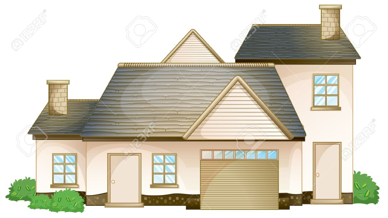 Two Story House Clipart.