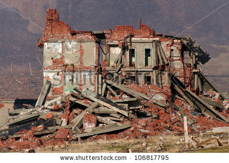 Ruined House Stock Images, Royalty.