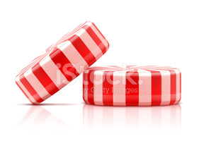 Two Striped Candies stock vectors.