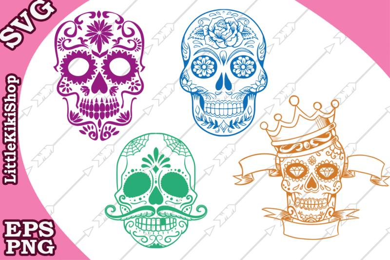 Free Sugar Skull Svg, SUGAR SCULL CLIPART, Sugar Skull Mask.