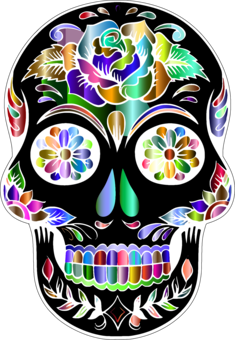 Sugar Skull photo background, transparent png images and svg.