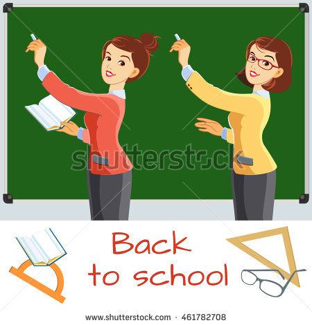School Teacher Teaching Clipart.