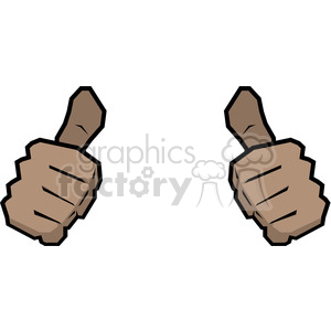 two thumbs up this person image African American clipart. Royalty.