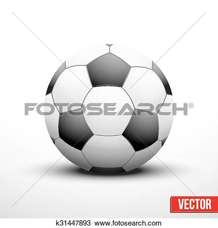 Clipart of Soccer ball in the traditional two.