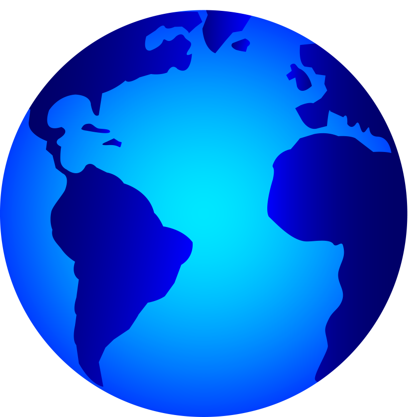 Green blue two tone globe clipart.