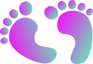 Two Tone Purple Baby Feet Clip Art at Clker.com.