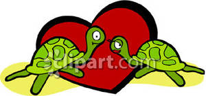 Two Turtles and a Red Heart.