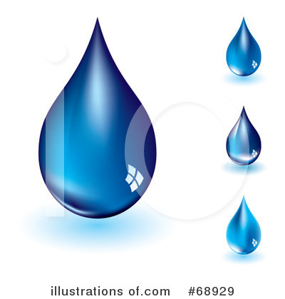 Two Water Drops Clipart.