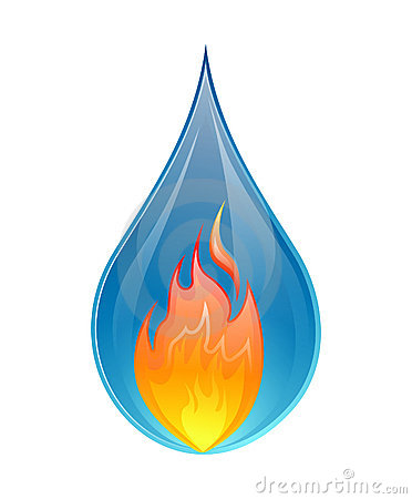 Water And Fire Clipart.