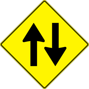 Paulprogrammer Yellow Road Sign Two Way Traffic clip art Free.