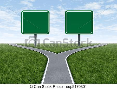 Two way road clipart.