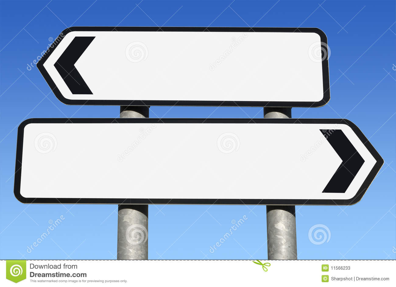 Blank Two Way Signpost Stock Illustrations.