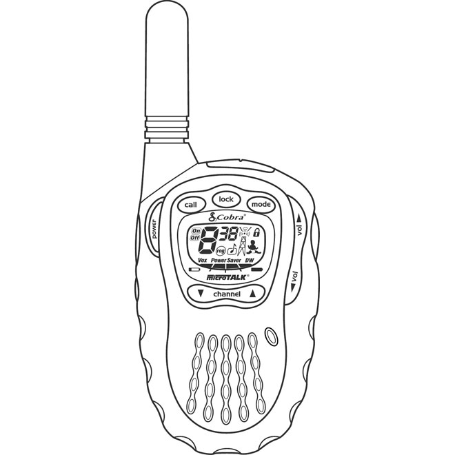 TWO WAY RADIO VECTOR CLIP ART.