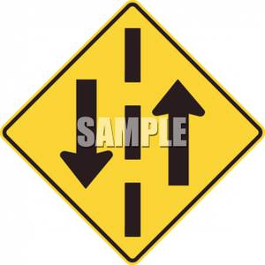 Yellow_Two_Way_Traffic_Caution_Sign_Royalty_Free_Clipart_Picture_090621.