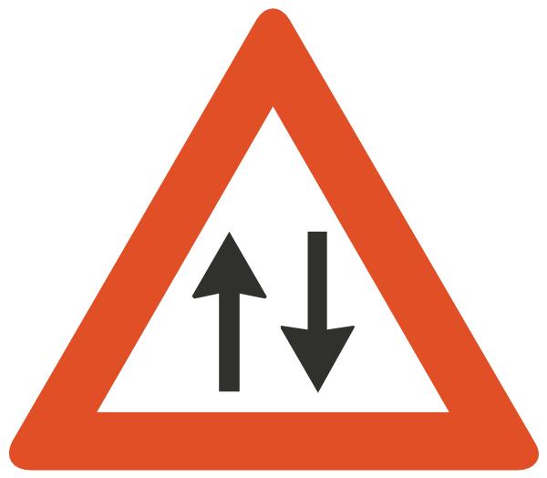 Two Way Traffic Ahead Clip Art at Clker.com.