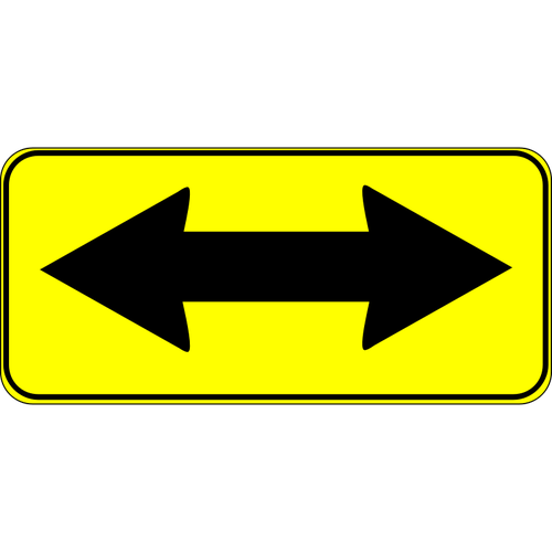 Two way traffic sign vector illustration.
