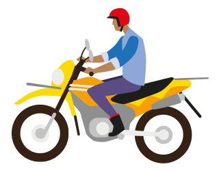 Safe use of two wheeled motorbikes.