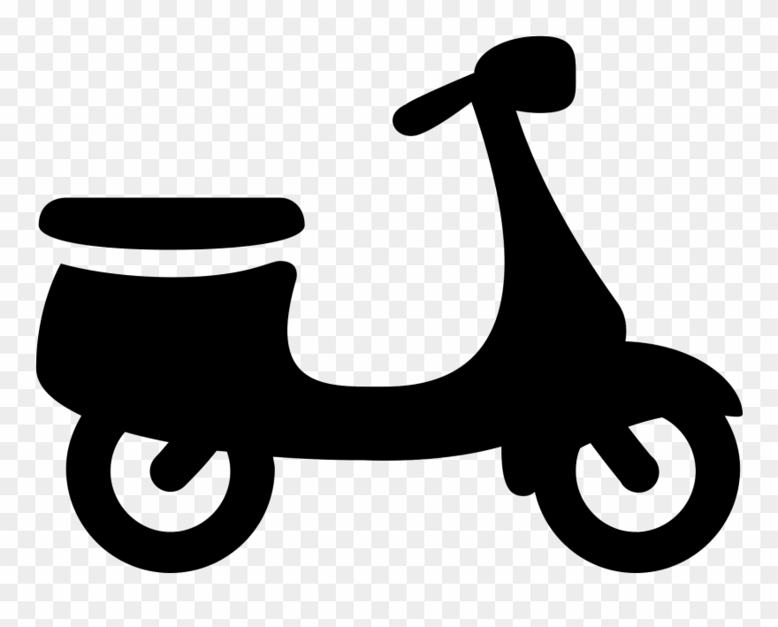 This Is A Motorized Scooter With Two Wheels, Handlebars.