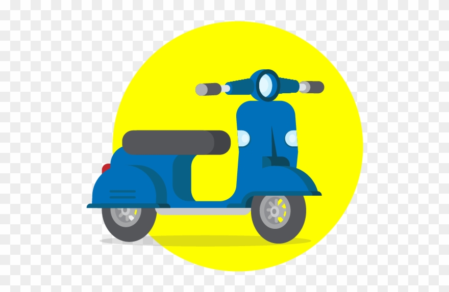 Scooter Vector Two Wheeler Clipart (#2917657).