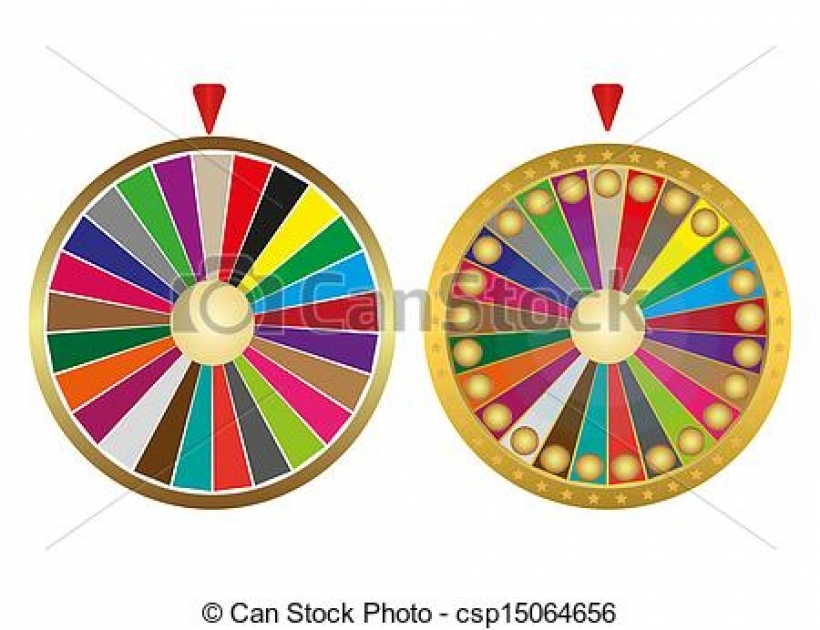 clipart vector of two wheels fortune csp15064656 search clip art.