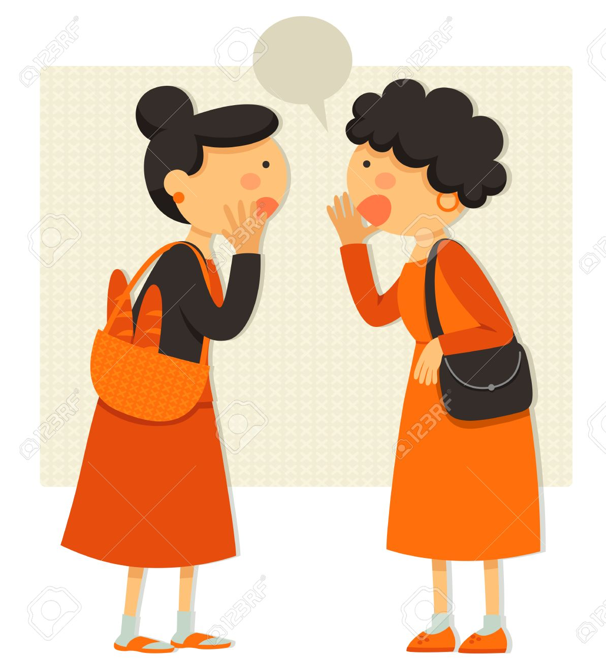 Two women talking clipart 2 » Clipart Station.