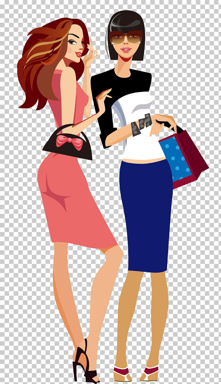 Fashion Shopping Girl, Creative Business People, two women.