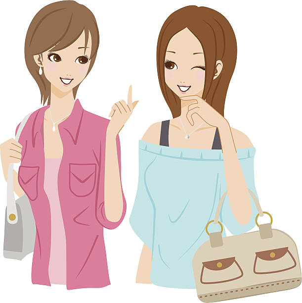 Two Women Talking Clipart.