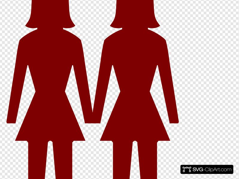 Two Women Clip art, Icon and SVG.