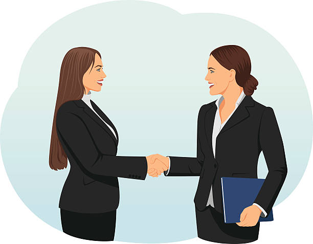 Women Shaking Hands Clipart.