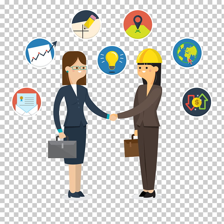 Handshaking Handshake Icon, Agreement businessman , two.
