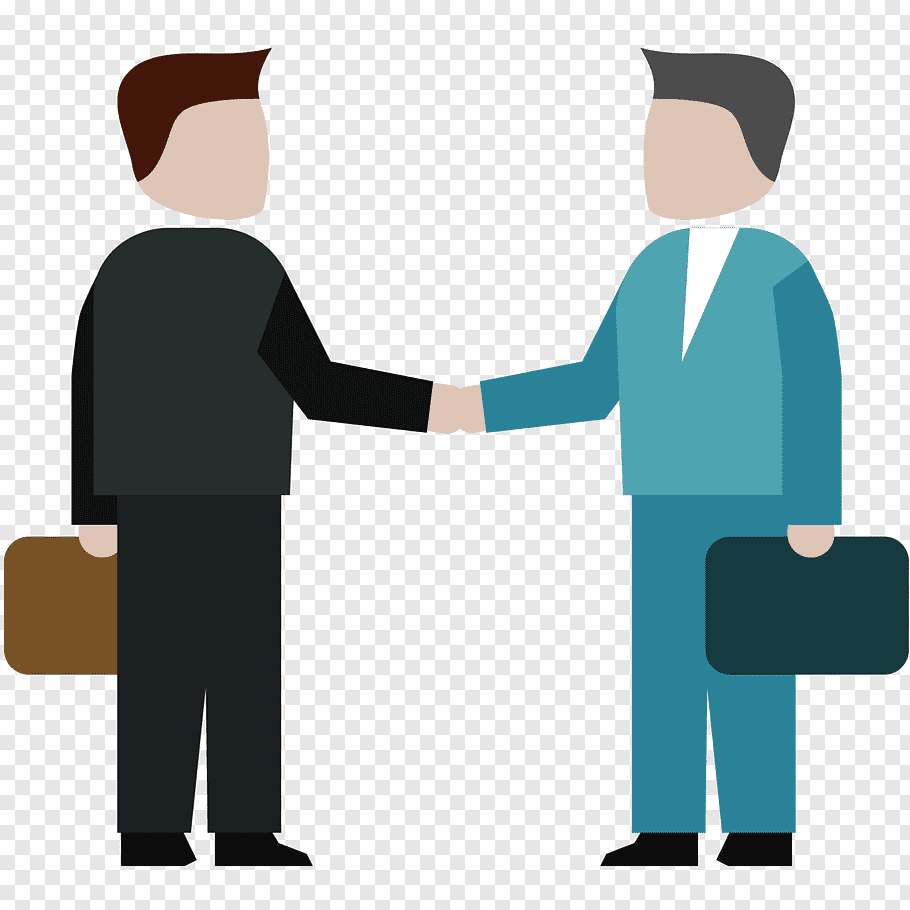 Two men shaking hands illustration, Training Professional.