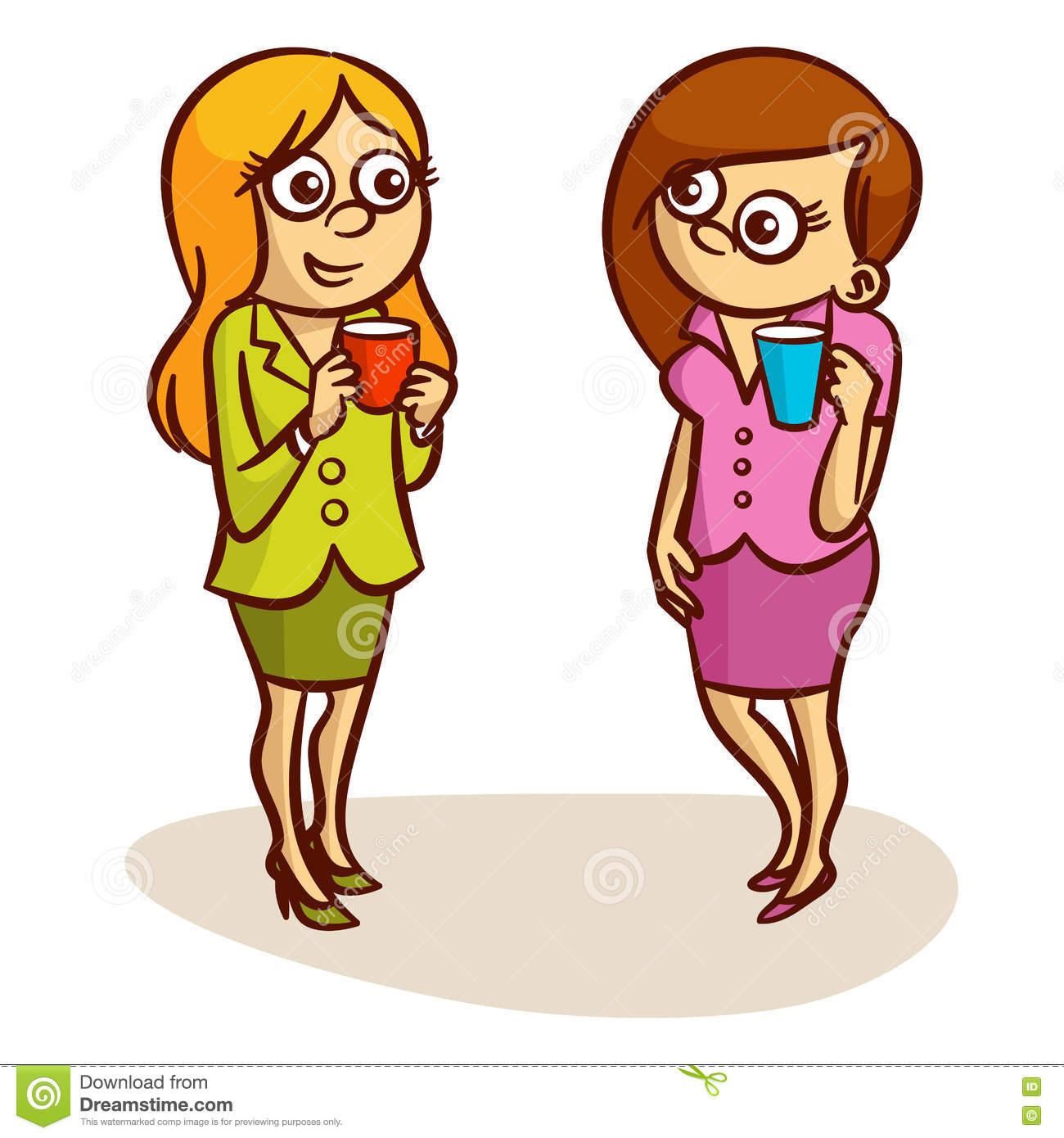 Two Women Talking Clipart.