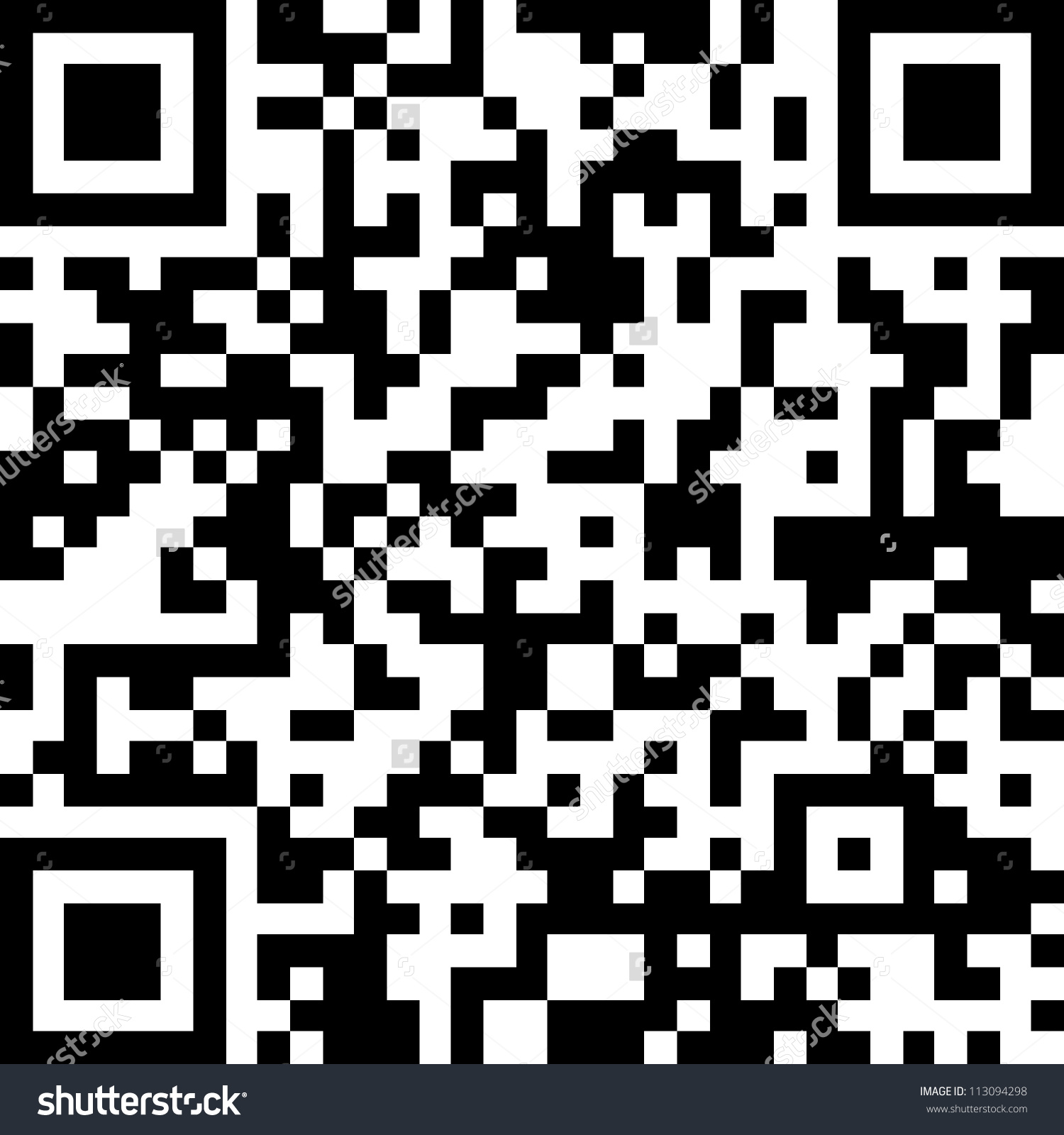 New Technology Barcode Called Qr Code Stock Photo 113094298.