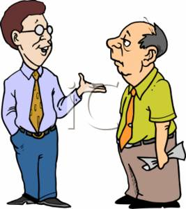 Two Men Talking Clipart.