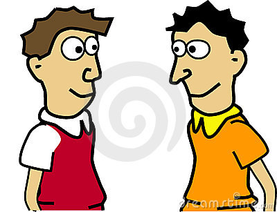 Two Men Clipart.