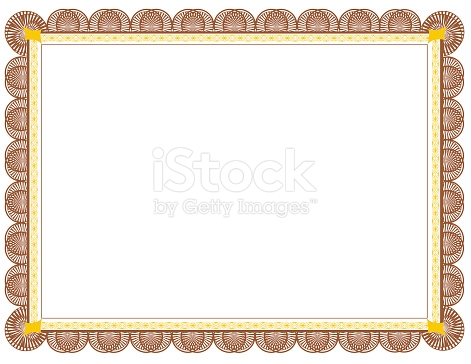 Brown And Gold Two Toned Document Frame Suitable For Printing.