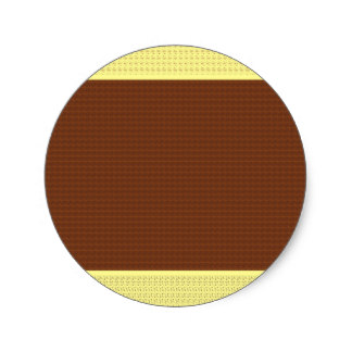 Two Tone Brown Stickers.
